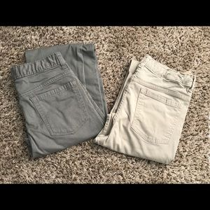 Boys Youth Casual pants. Two Pair together.